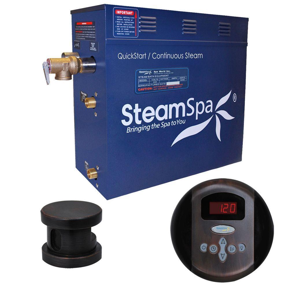 SteamSpa Oasis 6kW Steam Bath Generator Package in Oil Rubbed Bronze by SteamSpa