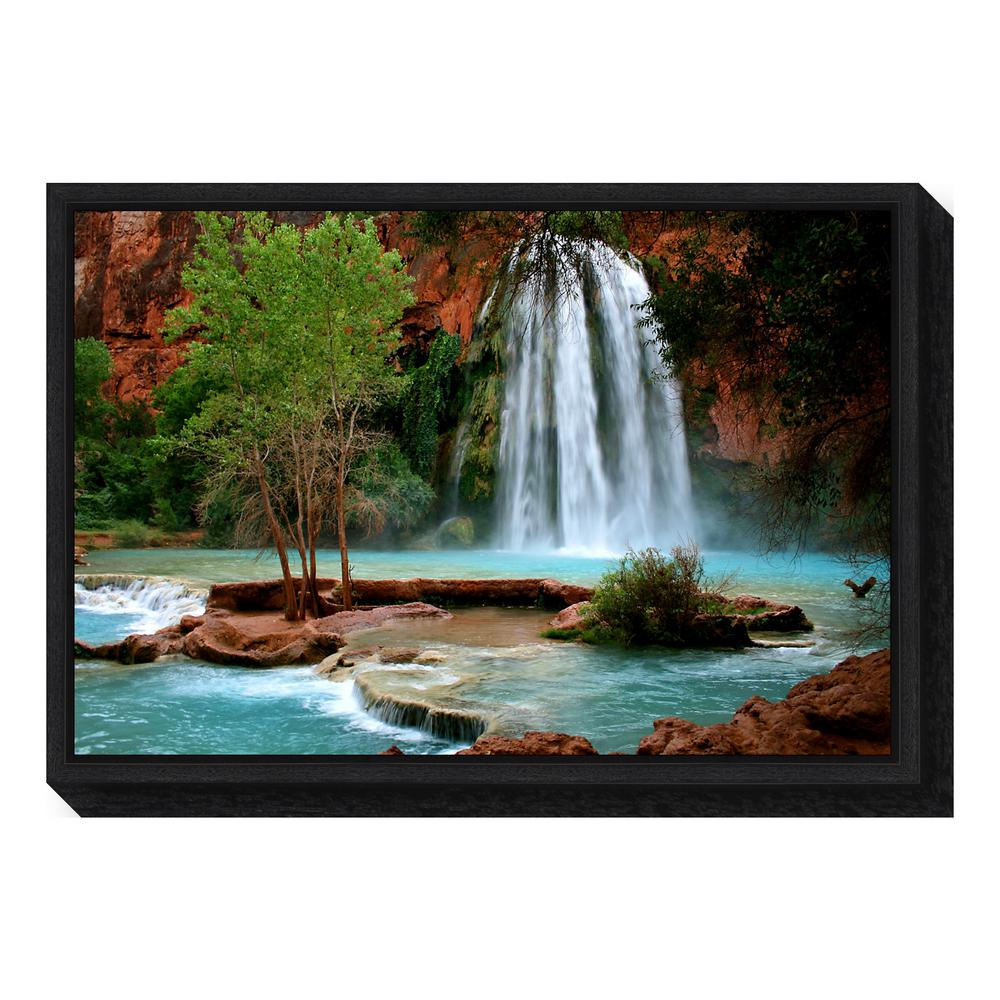 """Havasu Falls"" by Andy Magee Framed Canvas Wall Art"