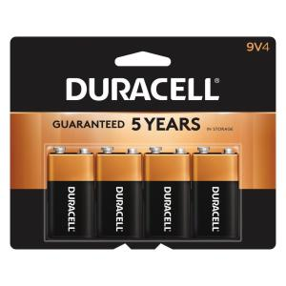 Duracell Coppertop Alkaline Batteries 9 Volt 2 Each Pack of 3