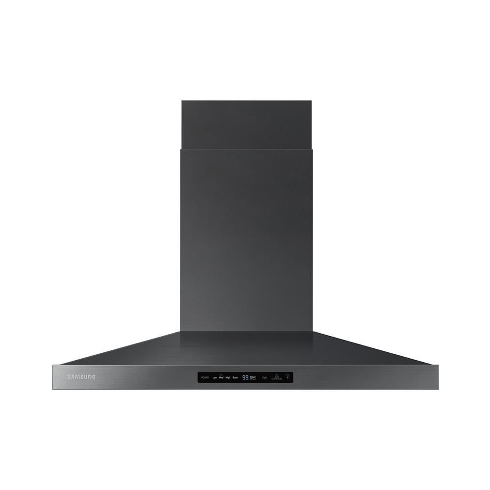Samsung 36 In Wall Mounted Range Hood In Black Stainless