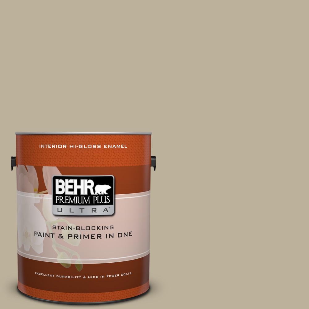 1 gal. #770D-4 Clay Pebble Hi-Gloss Enamel Interior Paint