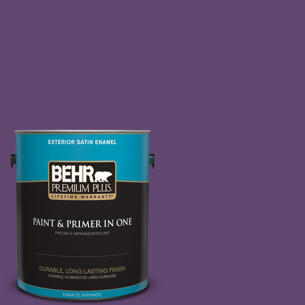 BEHR Premium Plus 1-gal. #S-G-670 Deep Violet Satin Enamel Exterior Paint