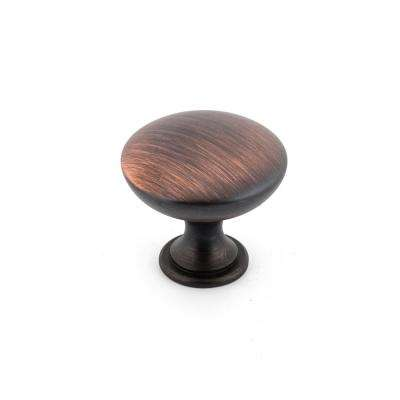 1-1/8 in. Brushed Oil-Rubbed Bronze Contemporary and Modern Knob