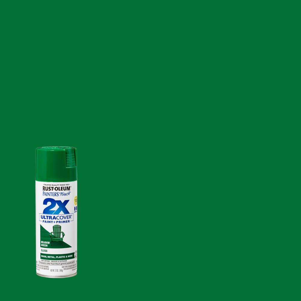 Rust-Oleum Painter's Touch 2X 12 oz. Gloss Green General Purpose Spray Paint