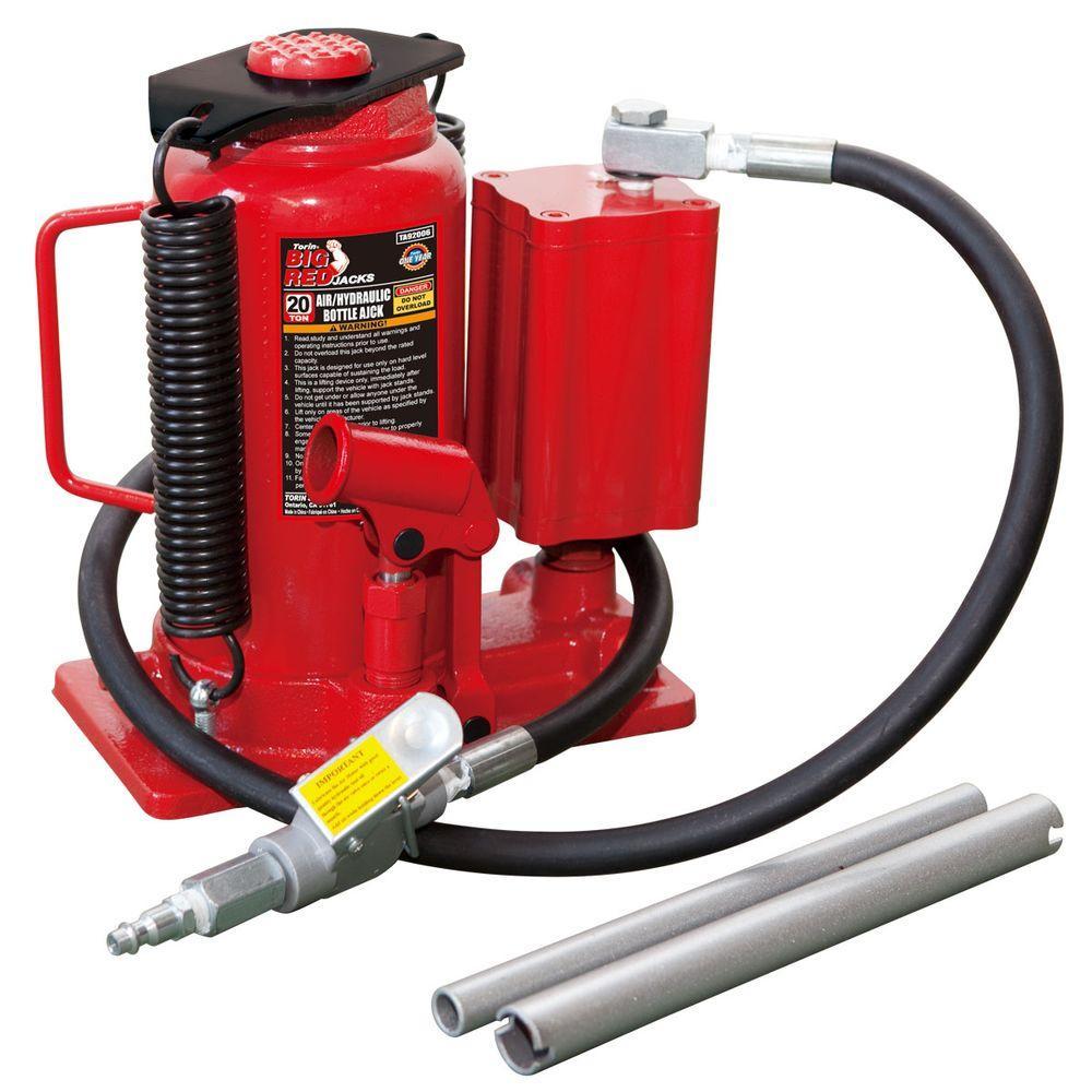 Big Red 20-Ton Air Hydraulic Bottle Jack