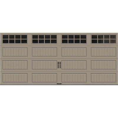 Gallery Collection 16 ft. x 7 ft. 18.4 R-Value Intellicore Insulated Sandtone Garage Door with SQ24 Window