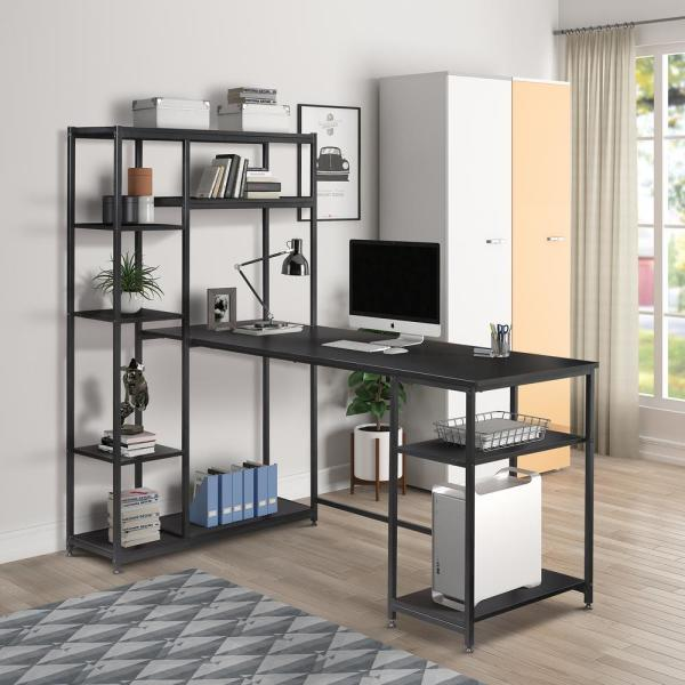 Rectangular Black Computer Desk
