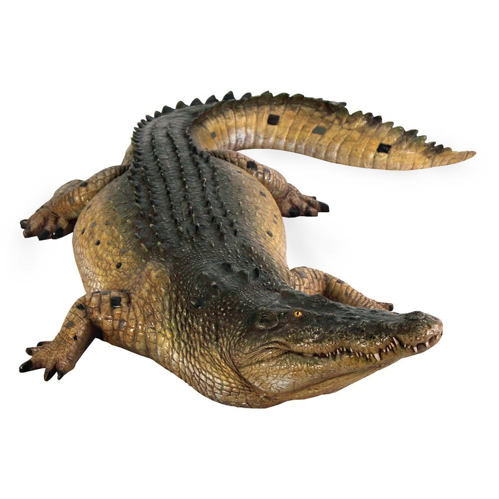Design Toscano 12 In H Tropical Wetlands Crocodile Statue