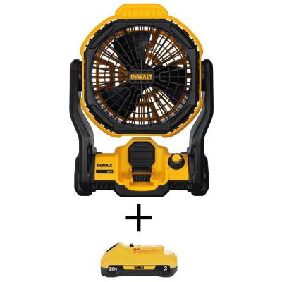 DEWALT 20-Volt MAX Lithium-Ion Cordless and Corded Jobsite Fan w/ Battery