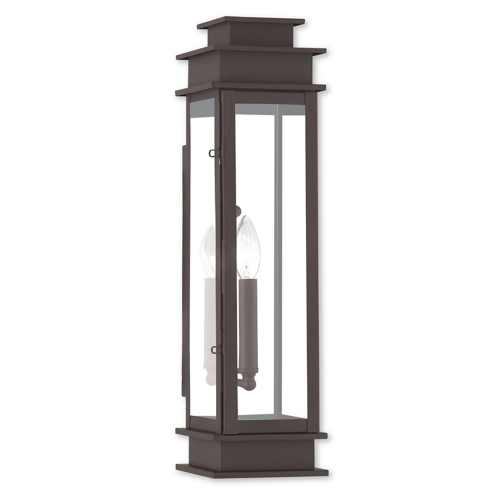 Princeton 1-Light Bronze Outdoor Wall Mount Lantern