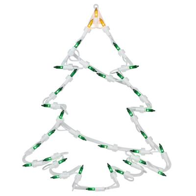 15 in. Lighted Tree Christmas Window Silhouette Decoration (4-Pack)