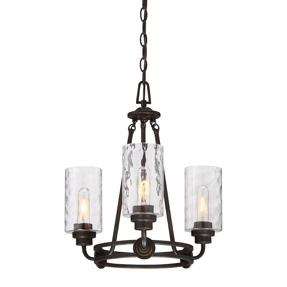 Gramercy Park 3-Light Old English Bronze Interior Incandescent Chandelier