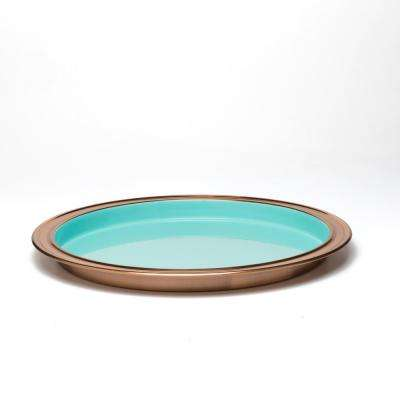 Turquoise 14 in. Bar Tray