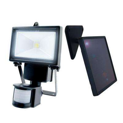 Black Outdoor Solar Motion Sensing Security Light with Advance LED Technology