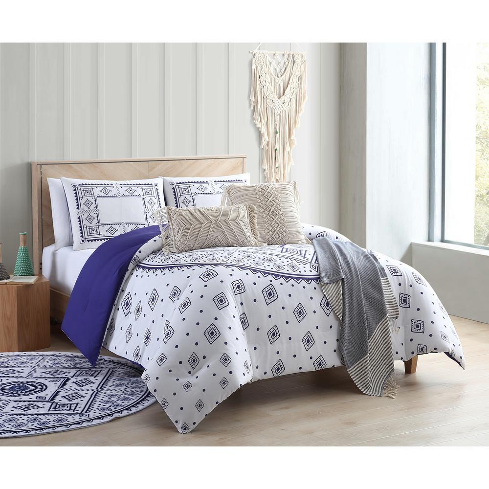 Medallion Navy Twin/Twin XL Comforter Set