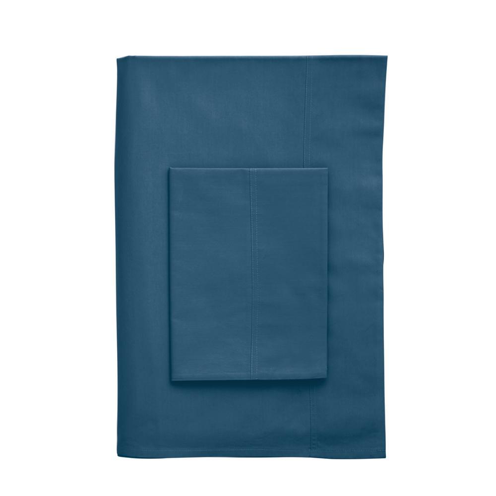 The Company Store Company Cotton Copen Blue 300 Thread Count Percale ...