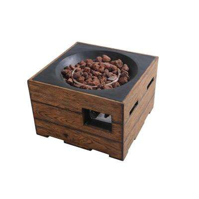 Kent 23.6 in. Brown Fire Pit