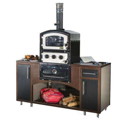 Alto Series Built-In Wood Fired Oven Grill and Smoker in Black