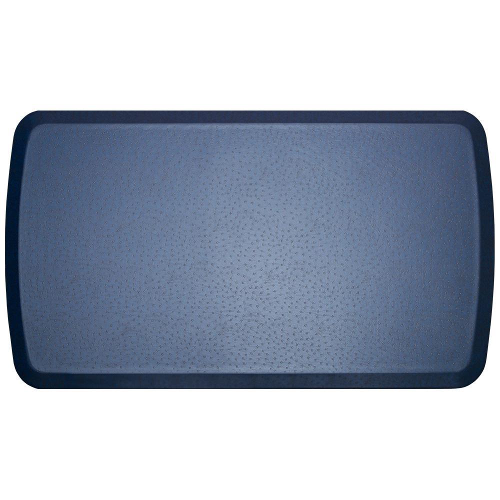GelPro Elite Quill Atlantic Blue 20 in. x 36 in. Comfort Kitchen Mat