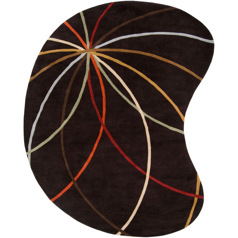 Artistic Weavers Hughson Chocolate 6 ft. x 9 ft. Kidney Area Rug