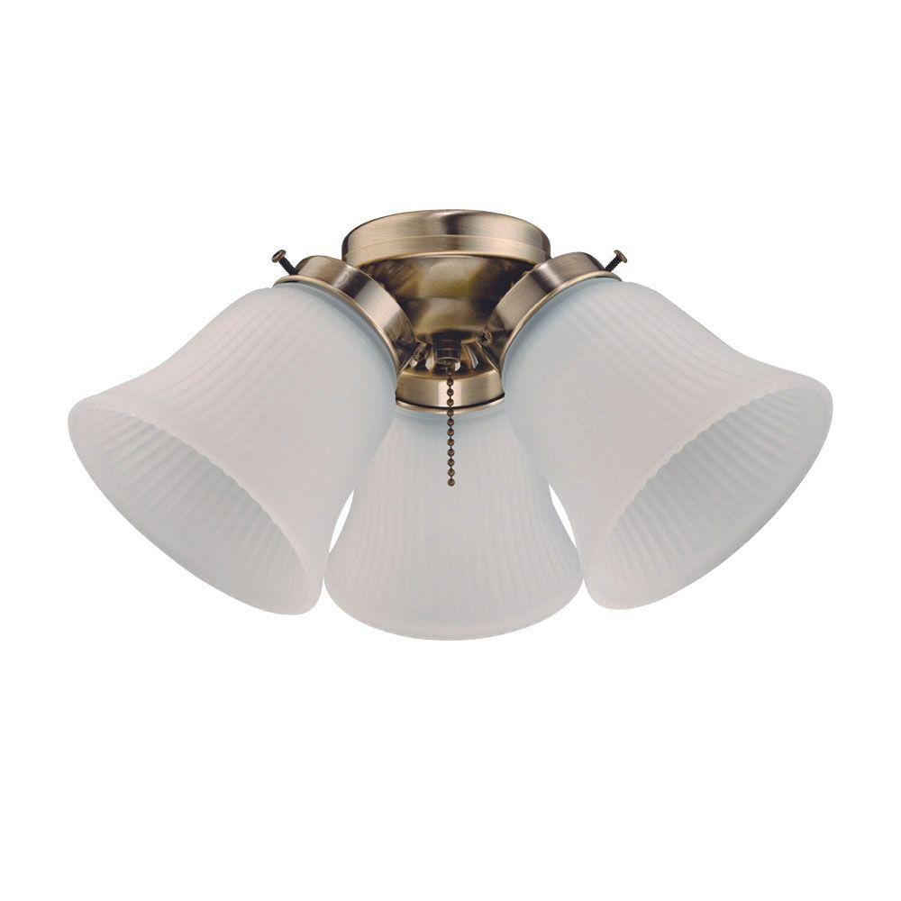 Westinghouse 3-Light Antique Brass Ceiling Fan Light Kit