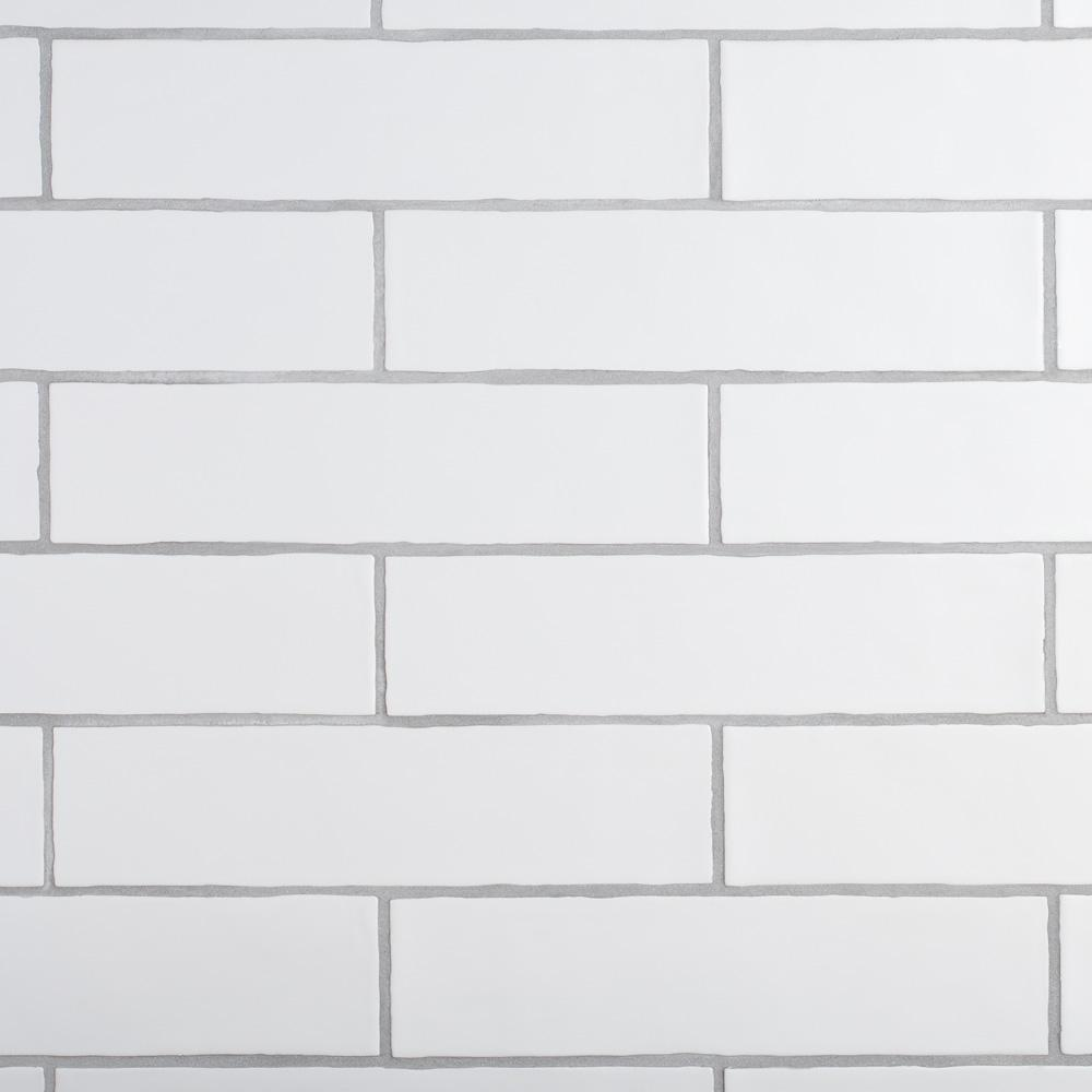Merola Tile Chester Matte Bianco 3 in. x 12 in. Ceramic Wall Tile (1 sq. ft. / pack)