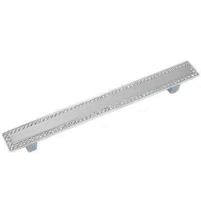 Bellagio 5.04 in. (128 mm) Polished Chrome Crystal Classic Dual Mount Drawer Pull
