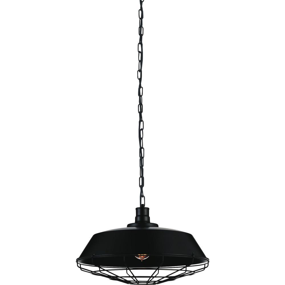 Morgan 1-Light Black Chandelier