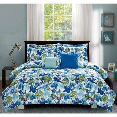 Calypso Blue 5-Piece Full/Queen Comforter Set
