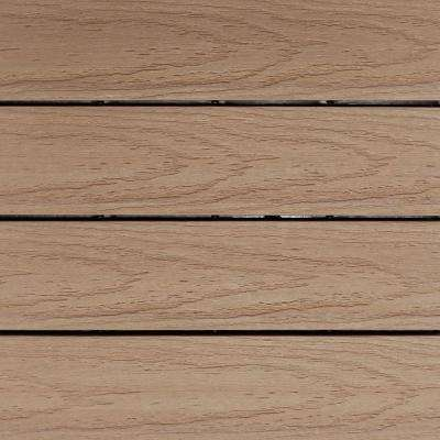 UltraShield Naturale 1 ft. x 1 ft. Quick Deck Outdoor Composite Deck Tile Sample in Canadian Maple