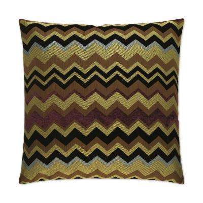 Chevron Purple Feather Down 24 in. x 24 in. Decorative Throw Pillow