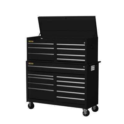Workshop 54 in. 17-Drawer ToolSet, Black