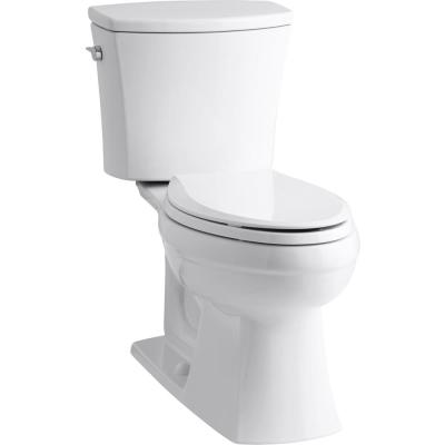 Kelston Comfort Height 2-piece 1.28 GPF Single Flush Elongated Toilet in White, Cachet Q3 Toilet Seat Included