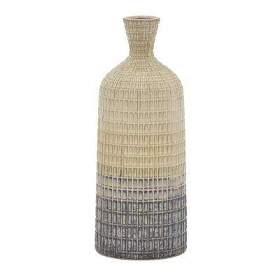 11 in. Ceramic Vase in Multi-Colored