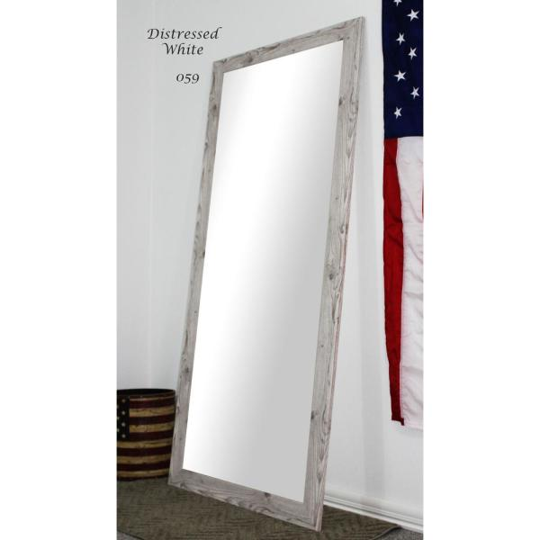 Large White Barnwood Composite Rustic Mirror (60 in. H X 21 in. W)