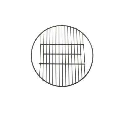 19 in. Round Steel Fire Pit Cooking Grate in Black