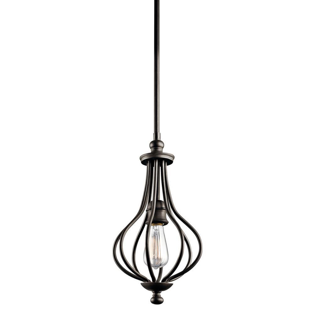 Kensington 1-Light Olde Bronze Mini Pendant Light