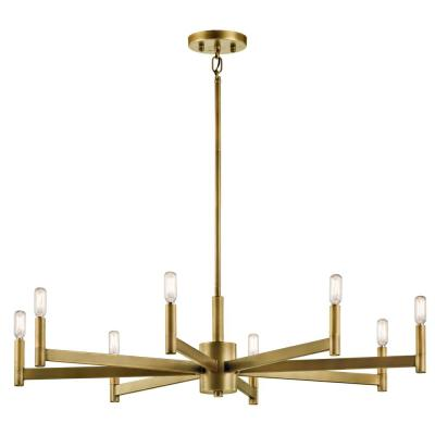 Erzo 8-Light Natural Brass Chandelier