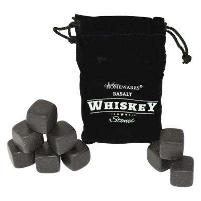 9-Piece Basalt Whiskey Stones Set