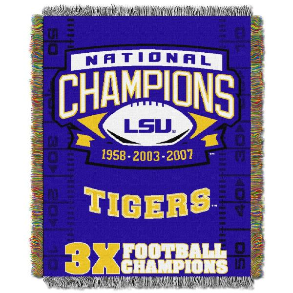 Multi Color 48 x 60 Officially Licensed NCAA Commemorative Woven Tapestry Throw Blanket