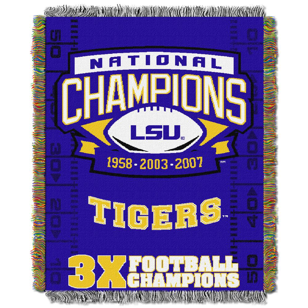 LSU Multi-Color Tapestry Commemorative Series Throw
