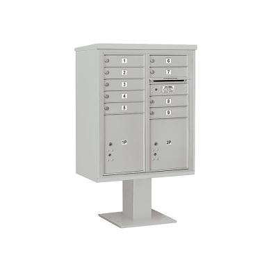 3400 Horizontal Series 9-Compartment 2-Parcel Locker Pedestal Mount Mailbox
