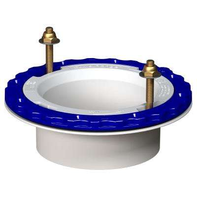 4 in. Glue-in Floor Protecting PVC Toilet Flange in White
