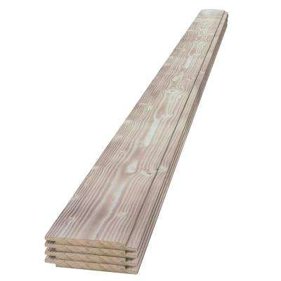 1 in. x 6 in. x 8 ft. Smoke White Charred Wood Pine Shiplap Board (4-Pack)