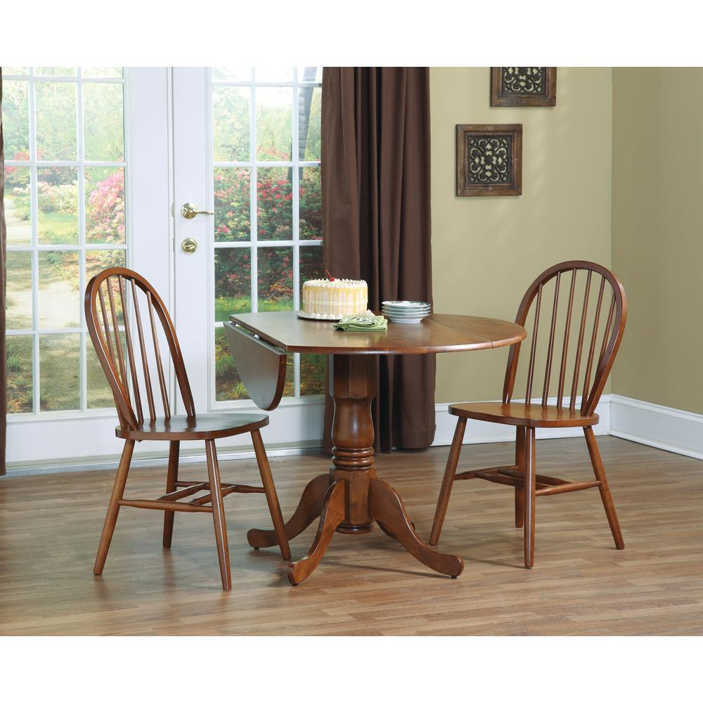 International Concepts 36 In Round Dual Drop Leaf Dining
