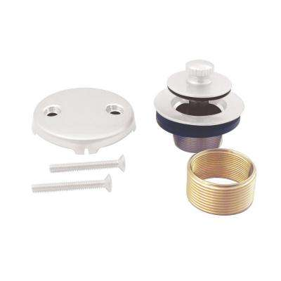 Universal Twist and Close Tub Waste Trim Kit, Powder Coat White