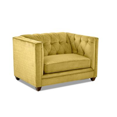 Kathryn Tufted Curry Oversized Chair