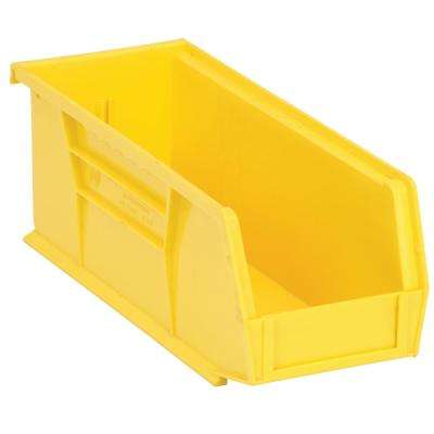 Ultra Series Stack and Hang 3.6 Gal. Storage Bin in Yellow (12-Pack)