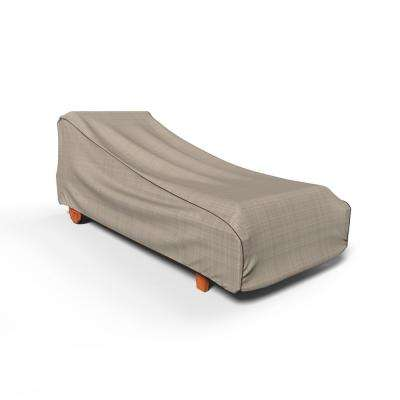 NeverWet Mojave Medium Black Ivory Single Patio Chaise Cover
