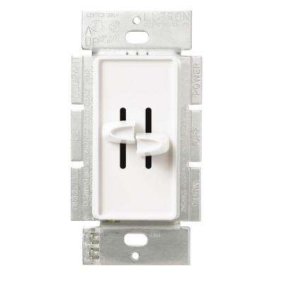 Skylark 300-Watt Single-Pole Dual Slide to Off Dimmer - White